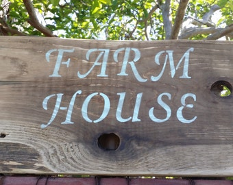 Farm House Sign, Reclaimed Wood Sign, Wood Sign, Family, Mothers Day, Fathers Day, Garden, Home Decor, Classroom, Agriculture, Sign, Rustic
