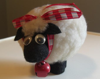 Rotund Woolly Sheep Ornament