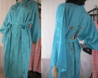 Vintage dressing gown kimono robe S / M
