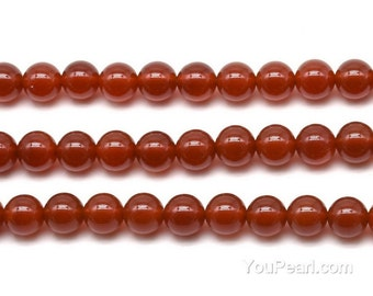 Carnelian beads, 8mm round, red agate beads, round beads, gem stone beads, A grade genuine stone beads, beads strand wholesale. CNL2040