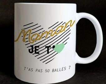 "Mug ""MOM I love you you"