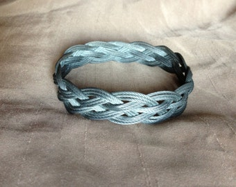 Turk's Head Knot Bracelet: Steal Cable