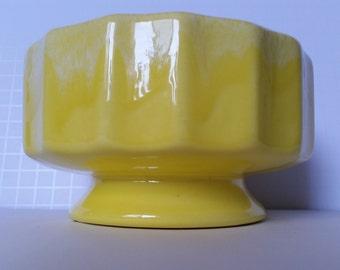 Vibrant Lemon Yellow Planter/Candy Dish/Vase