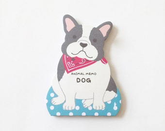 50% OFF CLEARANCE SALE - Animal Memo Dog - Cute Animal Notepads - Dog memo 3 colors - 50 sheets (was 3.20)