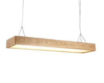 32W LED Rectangle Wooden Pendant Lights,Light Lampshade Fixtures,LED Lighting,Office Lighting,Hanging Lamps,Study Lamps,Studio Lightings