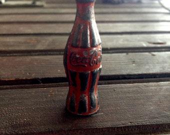 Coca Cola Soda Bottle Pencil Sharpener    Old Metal Coke Pencil Shapener   Coca-Cola Collectible