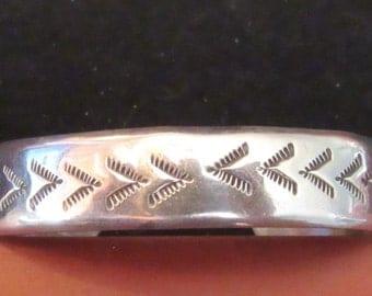Sterling Silver Southwest Style Cuff Bracelet KS