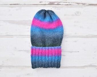 Slouchy Beanie - Slouchy Hat - Woolly Hat - Ski Hat - Festival Hat - Festival Beanie - Knitted Hat - Men's Hat - Hippie Beanie