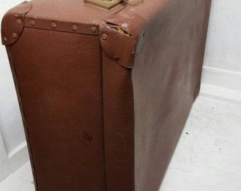 Vintage Suitcase Luggage Travel Bag Large