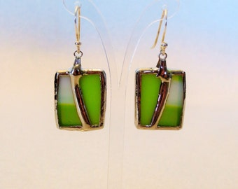 Stained glass - Hand-made earrings