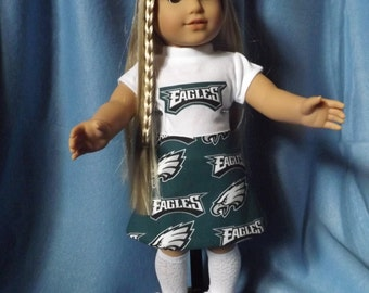 "18"" Doll Philadelphia Eagles Outfit"