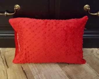 Red  Minky Pillowcase