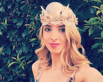 Mermaid Crown Tiara Headdress White