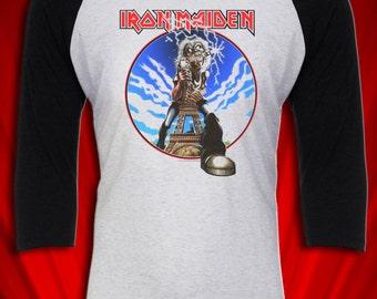 Iron Maiden Paris Vintage Tee Paris Tour Heavy Metal