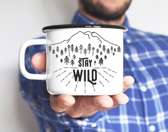 Camping Mug Travel Mug Enamel Mug Adventure Mug Mountain Mug Enamelware Camping Gift For Him Travel Gift Friend Gift Gift For Man Adventure