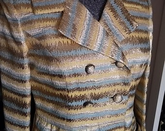 Vintage, 1960's, Paul Blumenstein, Dressy, Spring, Summer, Metallic, Women's Coat