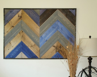 Upcycled Wood Chevron Wall Art