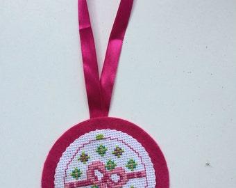 Cross stitch Christmas bauble