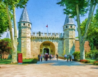 Topkapi Palace, Istanbul, Turkey, Turkish, Constantinople, Istanbul Print, Istanbul Palace, Historic Palace, European Palace