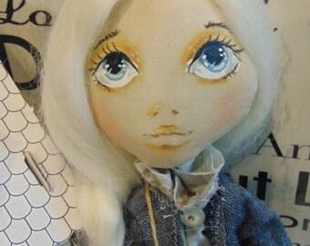 OOAK handmade cloth doll
