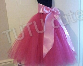 Pink and Black TUTU dress, princess dress, Bridesmaid dress, flower girl dress, party tutu dress