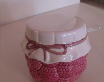 Set of two Jelly/Jam porcelain jars, from the 50's/60's
