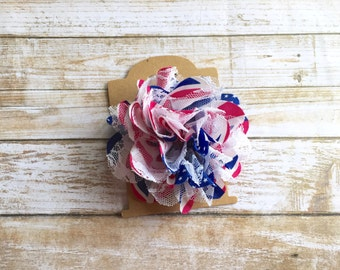 READY TO SHIP 4th of July Hair Clip/4th of July Flower/Fourth of July Hair Clip/Patriotic Hair Clip/4th of July Hair Bow/Child Hair Clip/Bow