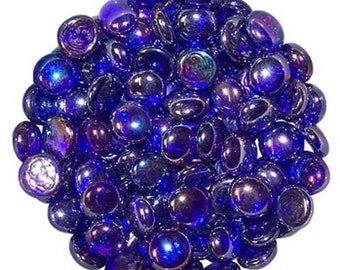 250 Grams High Quality Royal Blue Glass Pebbles