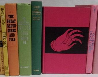 Rainbow Decorative Books, Antique Books, Vintage Book Collection, Wedding Centerpiece, Book Decor, Interior Design, multicolor