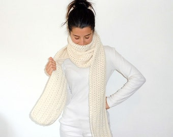 Long crochet scarf