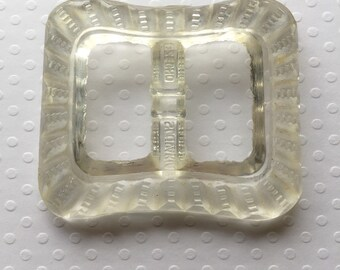 Glass Belt Buckle made in Czechoslovakia vintage woman's accessories belt buckles