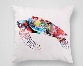 Amazing Turtle Decorative Pillow  - Throw Pillow - Ocean Pillow Cover - Gift Idea