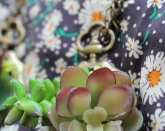 Large succulent necklace