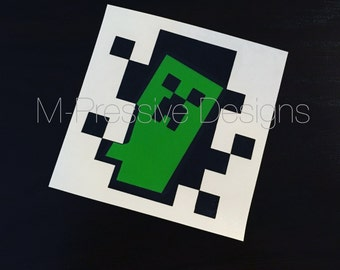 Minecraft Creeper Inspired Decal