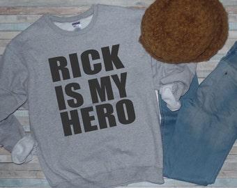 Walking Dead Shirt, Rick is My Hero, Women's Sweatshirt, Men's Sweatshirt, TWD, Zombie Shirt, Walking Dead Sweatshirt, Comic Con,