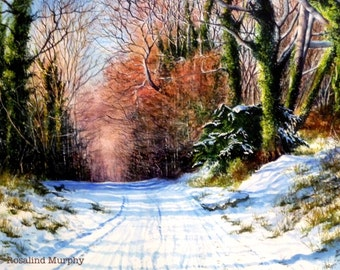Winter in Castlewellan Forest Park (print of original watercolour)