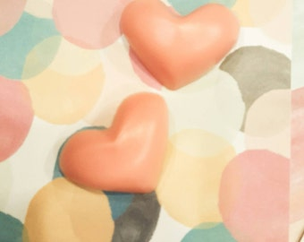 Sweet Pink Heart Brooch Pin