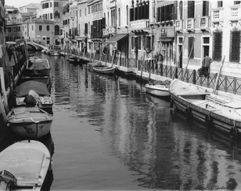 Venice Canal 8x10, print of original film photograph
