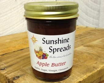 Apple Butter, 8 Ounce Jar, Amish Made