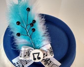 Vinyl Scratch Pillbox Hat