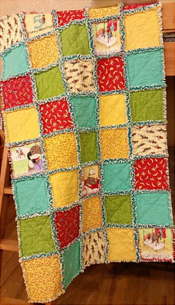 Funky Monkey Rag Quilt Kit 40 Precut Pre Fringed 10