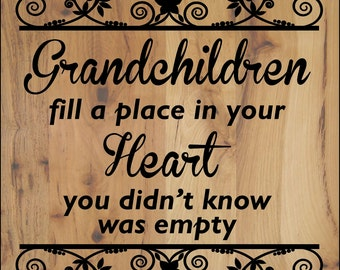 Grandmother hand painted wood sign with names