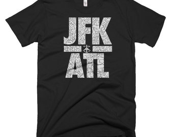 Travel T Shirt, Traveling T Shirt, Mens Travel Shirts, Travel Shirts Men, Jfk Atl, Atl Tshirt, Airport T Shirt, Atlanta T Shirt, Nyc T Shirt