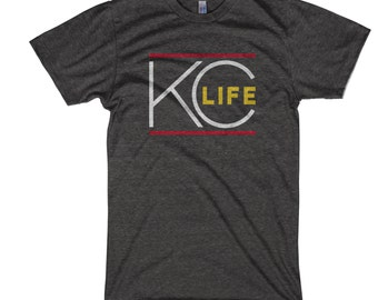 KC Life T-Shirt - Charcoal Football
