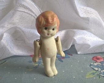 vintage bisque baby doll figurine
