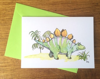 3pack - Stegosaurus Greeting Cards