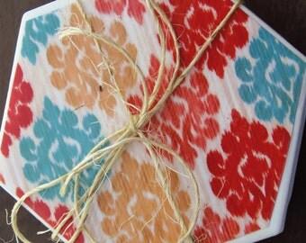 Moroccan Inspired Hexagon Coasters