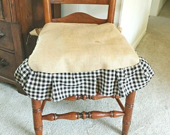 Gingham Check Chair Slip Covers