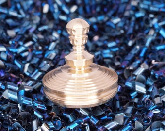 """Precision Brass Spinning Top """"The Pawn"""""""