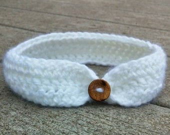Infant/Baby Simple Button Headband (pick your color)